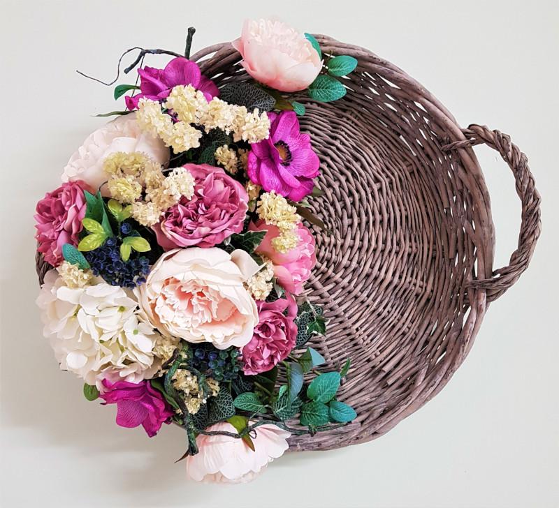 Le mie creazioni cesta decorativa per la casa shabby for Creazioni per la casa