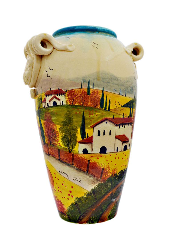 Ceramiche Toscane Montelupo Fiorentino vaso da fiori in ceramica